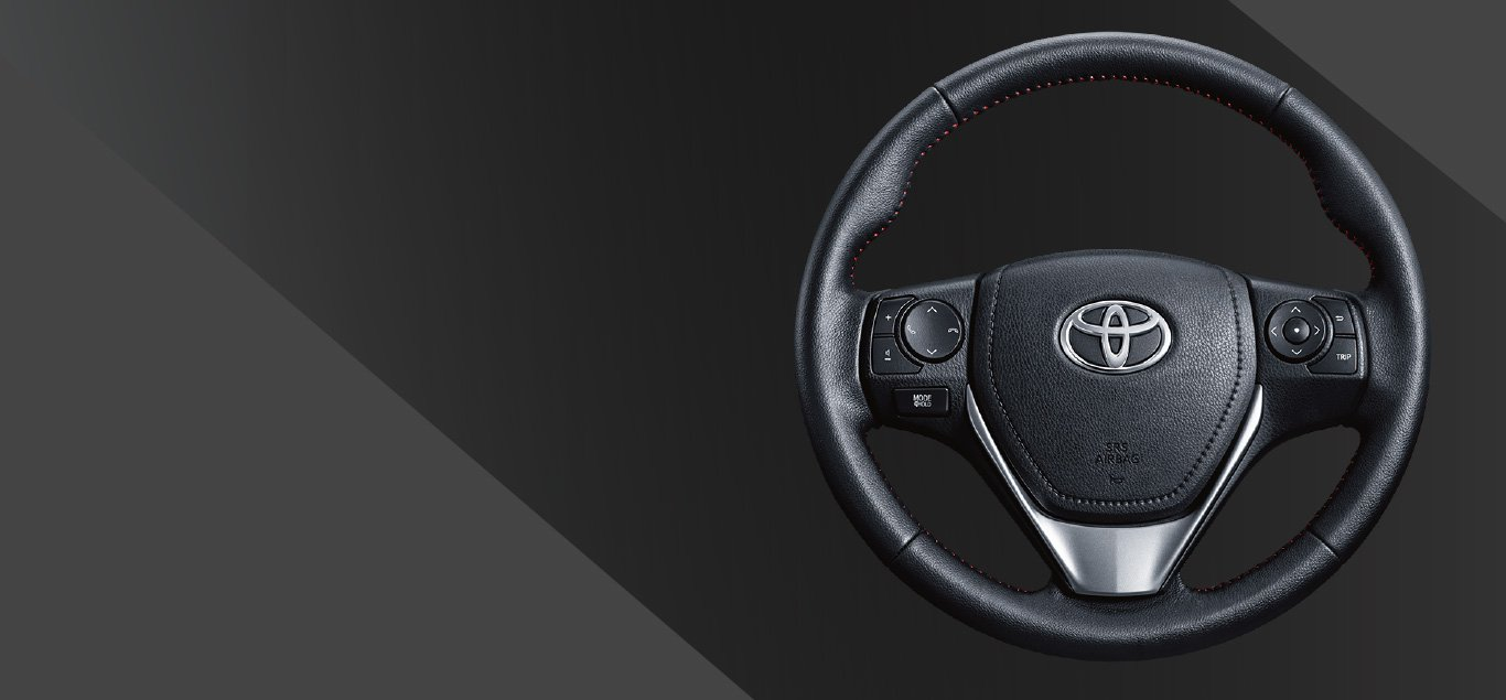 Leather Steering Wheel with Audio & TFT Switch - TRD Type